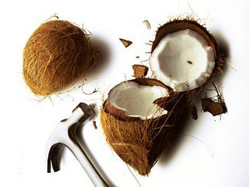 как вскрыть кокос видео