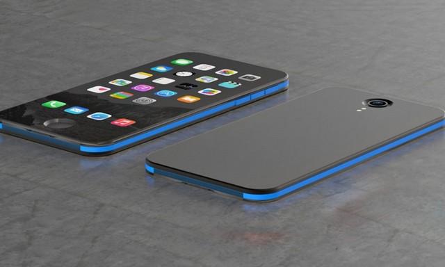 синий айфон 8